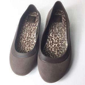 Crocs Women Brown Slip On Mary Jane Ballet Flats